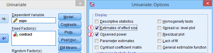 Observed Power In SPSS Glm