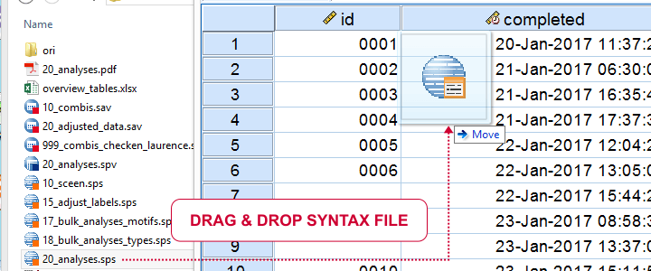 Open Syntax File by Drag and Drop