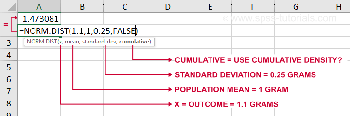 Probability Density Function Excel