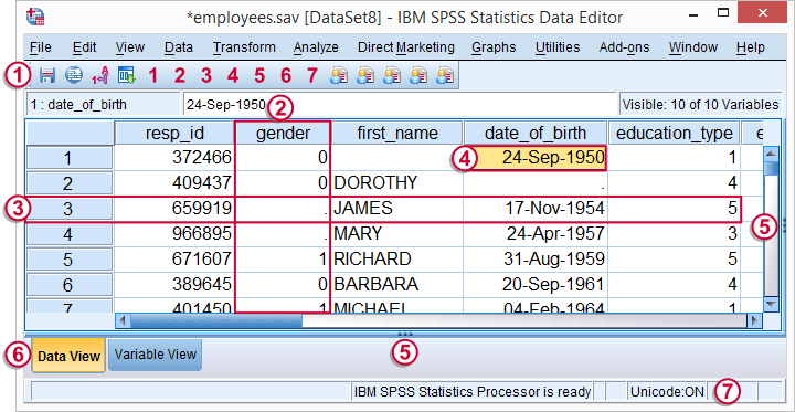 SPSS Beginners Tutorials - Data Editor