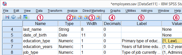 SPSS - Change Variable View with Syntax