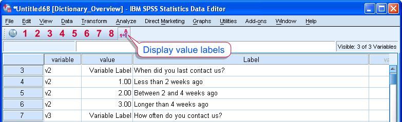 SPSS Codebook to Excel Result