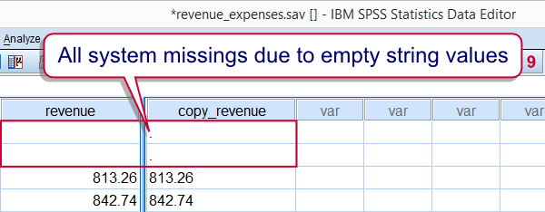 how to change missing values for all variables in spss