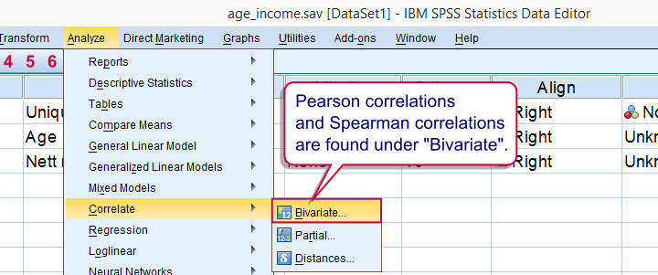 how to run pearson correlation in spss