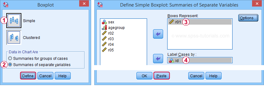 SPSS Create Boxplot From Legacy Dialog