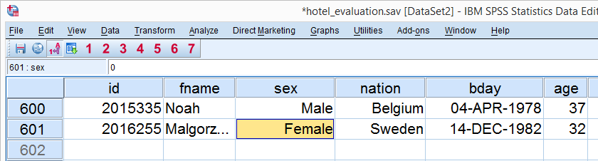 SPSS Data Preparation - Case Count