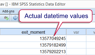 SPSS Datetime Values in F Format