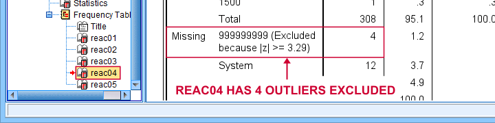 SPSS Exclude Outliers Based On Z Scores Result