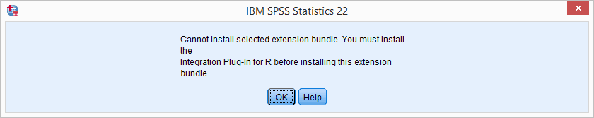 SPSS Extension Bundle Installation