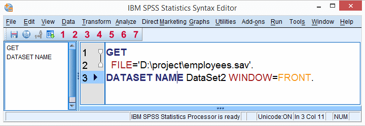 SPSS Open Data with Syntax