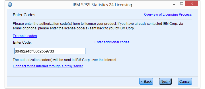 SPSS License Authorization Wizard3