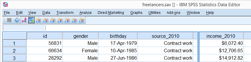 SPSS Data View Freelancers
