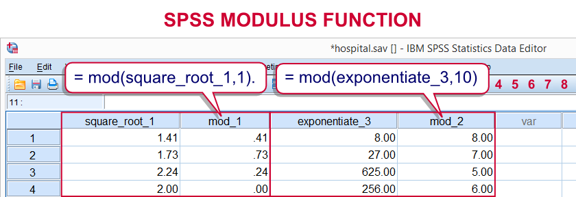 SPSS Modulus Function
