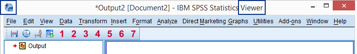 SPSS Output Viewer Window