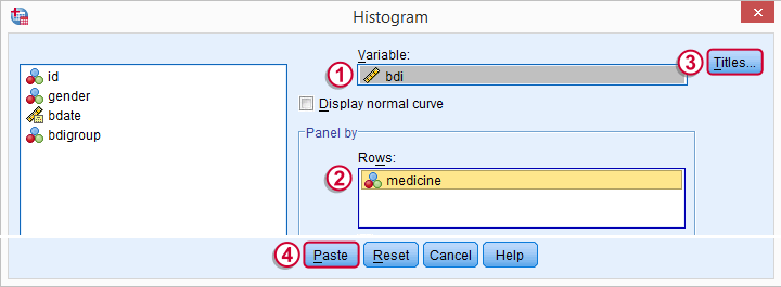 Post Hoc ANOVA - Histogram Menu 2
