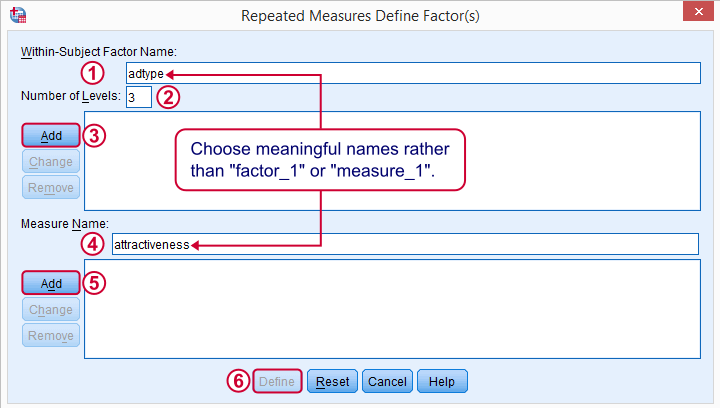 SPSS Repeated Measures ANOVA Intro Dialog