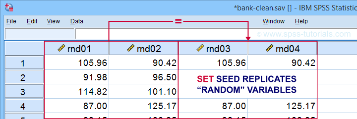 SPSS Set Seed Example