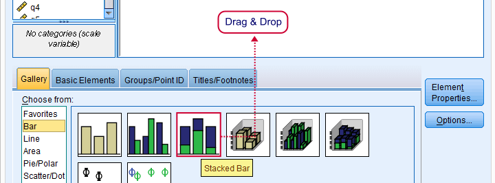 SPSS Stacked Bar Chart - Select Basic Chart