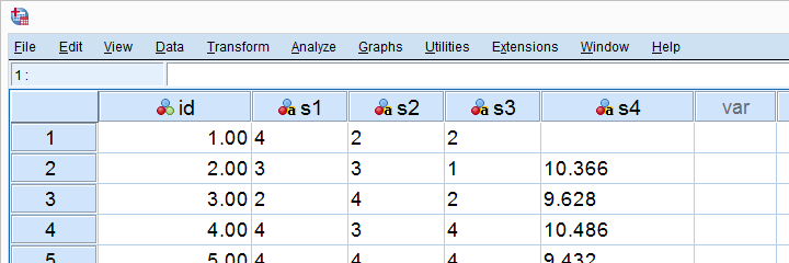 SPSS String To Numeric Data View