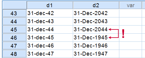 SPSS String to Date