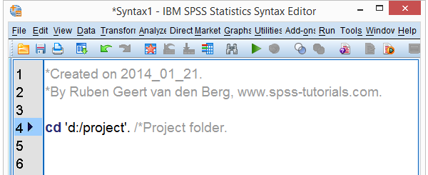 SPSS Syntax Comments