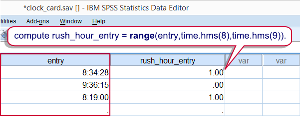 SPSS Time Comparison Example
