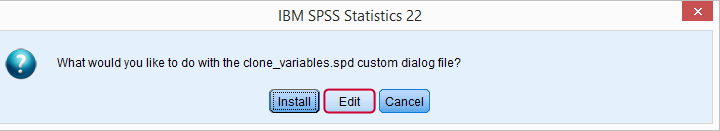 SPSS Custom Dialogs - Quick Introduction