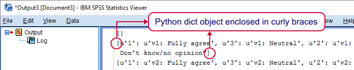 SPSS Value Labels As Python Dict In Output