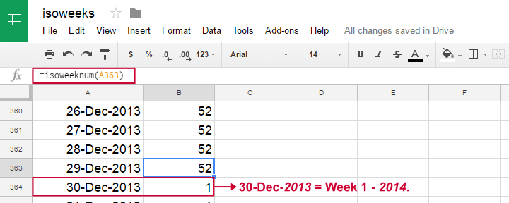SPSS Week Numbers Googledocs Years